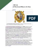 Historia de La Universidad Nacional Mayor de San Marcos
