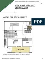 """""""Requerimientos de Espacio Para La Sala de Un Restaurante"""" _ Omar j. Hoyer Gerencia de a&b"""