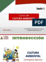 Sesión 1 Cultura Ambiental - PPT UMA