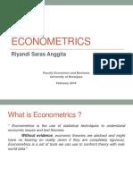 Econometrics Chapter 1