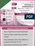 Aula 1. Hipotensão e choque - Dr. Lucas Zambon - Apresentação.pdf