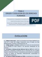 Tema 2 Concepto, Origen y Evolucion de Los Derechos Humanos