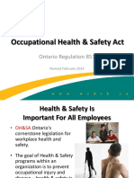 Occupatiional H and S Act Presentation-Rev Feb 2014