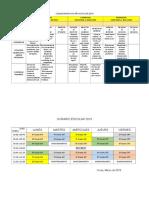 Calendarizacion Año Escolar 2019
