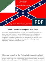 conscription acts project