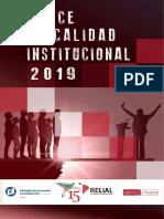 Índice de Calidad Institucional 2019