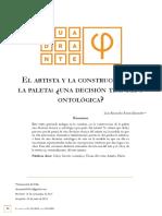 BARON MONSALVE Luis Alejandro - El artista y la construcción de la paleta ¿Una decisión técnica u ontológica?