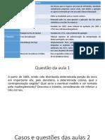 Casos e Questões História Do Direito Brasileiro 1º Período