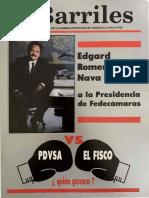 Revista Barriles Año 6 No29 - Febrero Marzo 1993 - Portada Edgard Romero Nava