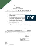 Affidavit of Undertaking to Change Corporate Name