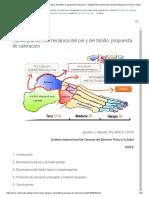 Huella Plantar, Biomecánica Del Pie y Del Tobillo_ Propuesta de Valoración - Instituto Internacional de Ciencias Del Ejercicio Físico y Salud