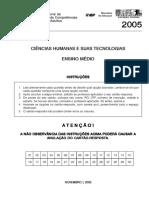 Ciencias Humanas - Ensino Medio - 2005 - 2