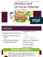 Brigada Eskwela 2018 Meeting of Focal Persons