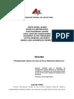 RESUMO ARTIGO - Planejamento Urbano Em Juiz de Fora Reflexões Históricas