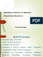 Propiedades Mecânicas. Prof. Bruno Guedes - Final 2