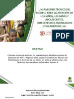 Lm1.p Lineamiento Tecnico Del Modelo Para La Atencion de Los Ninos Las Ninas y Adolescentes Con Derechos Amenazados o Vulnerados v6 0