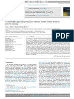 A Sustainable Aggregate Production Planning Model for the Chemical Process Industry
