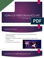 Form of Performance Art