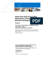 SHORT TERM FORECASTING - SOLAR POWER