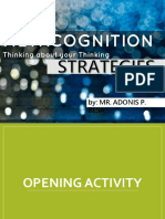Metacognition Strategies