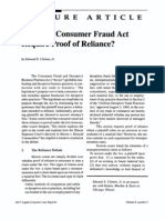Reliance and the Illinois Consumer Fraud Act