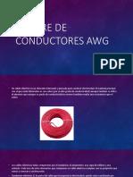 Calibre de Conductores AWG