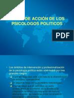 Areas de acción del psicólogo político