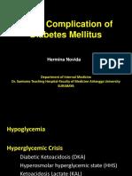 Acute Complication of Diabetes Mellitus