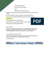 Propuesta Metodológica Para La Identificación de Los PIS