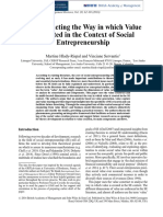 Deconstructing the way in which value is created in the context of social entrepreneurship