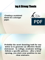 Creating a thesis (sample)