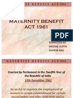 Maternity Benefit Act 1961...