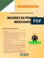 Contexto No.16 Mujeres Penales Mexicanos