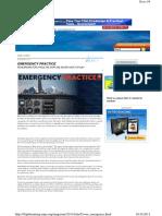 Emergency Practice Aeroplane