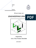 Exercises on Engineering Drawing