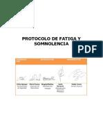 Protocolo de Fatiga y Somnolencia en La Conducción