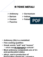 Minor Toxic Metals