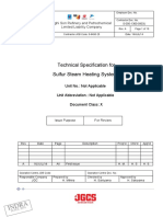 S-000-1360-0903J_A_010 Technical Specification for Sulfur Steam Heating Systems