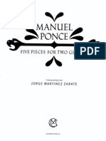 Manuel Ponce - 5 Pieces for 2 Guitars
