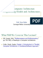 Onur 740 Fall13 Module2.2 Programming Models and Architectures