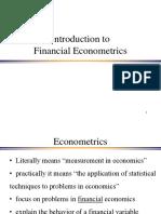 Introduction Econometrics