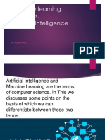 Machine Learning vs a.I