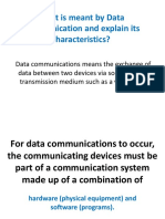 What is Meant by Data Communication and Explain