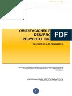 Orientaciones proyecto Ciudadano