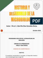 HISTORIA Y DESARROLLO DE LA MICROBIOLOGIA