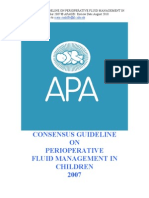 APA Perioperative Fluid Management 2007