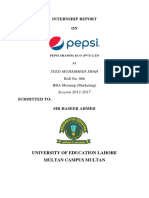 Muhammad Shah INTERNSHIP REPOR Pepsi 2017 marketing uoe report.docx