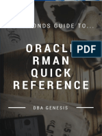 60 Seconds Guide to Oracle RMAN Quick Reference