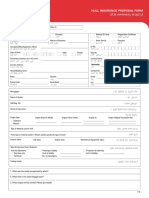 Application Form for Hull Insurance