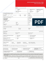 Application Form for Motor Insurance